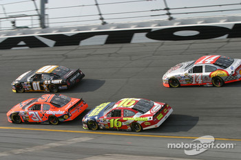 Joe Nemechek, Jeff Burton, Greg Biffle and John Andretti
