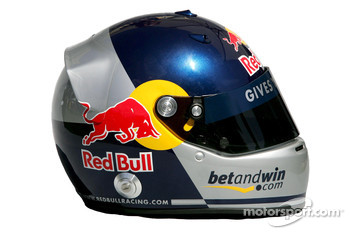 Red Bull Racing photoshoot: helmet of Christian Klien