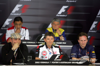 Friday FIA press conference: Colin Kolles Jordan Managing Director, Hiroshi Yasukawa Bridgestone Director of Motorsport, Nick Fry BAR Team Principal, Pierre Dupasquier Michelin Competitions Director and Christian Horner Red Bull Racing Sporting Director