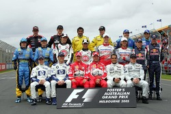 Family picture: the drivers of the 2005 Formula One Championship