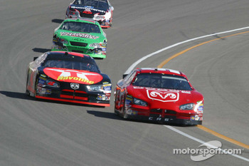 Kasey Kahne leads Jamie McMurray