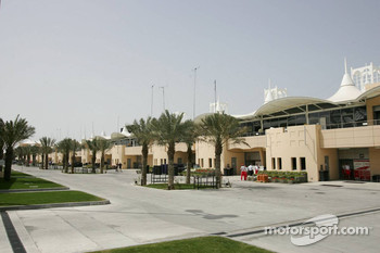 Paddock area at Bahrain International Circuit