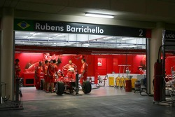 Ferrari garage area at night