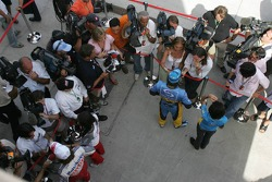 Provisional pole winner Fernando Alonso