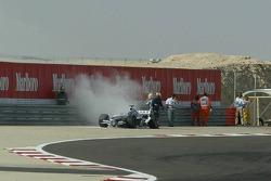 Engine trouble for Nick Heidfeld