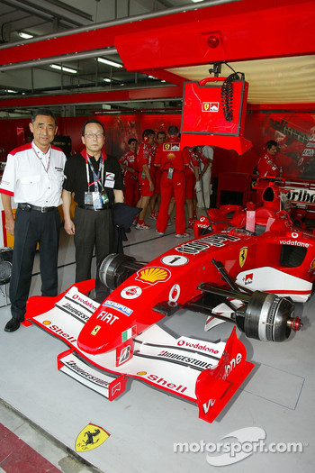 VIP guests at Ferrari