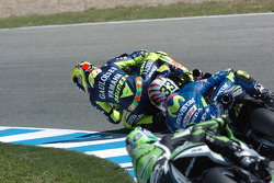 Valentino Rossi leads Marco Melandri