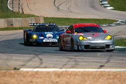#44 Flying Lizard Motorsports Porsche 911 GT3 RSR: Lonnie Pechnik, Seth Neiman, #35 Maserati Corse Maserati MC12: Andrea Bertolini, Fabrizio De Simone