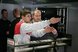 Pierre Kaffer and race engineer Howden Haynes