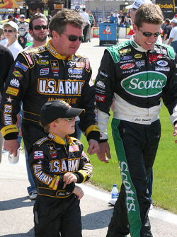 Joe Nemechek and Carl Edwards