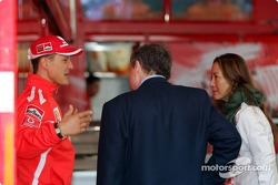 Michael Schumacher, Jean Todt and girlfriend Michelle Yeoh