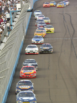 Scott Riggs, Michael Waltrip, Bobby Hamilton Jr., Dave Blaney, Jason Leffler and Mark Martin