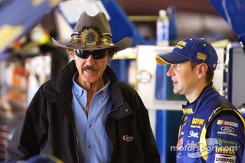 Richard Petty and Kurt Busch