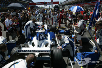 Mark Webber on the starting grid