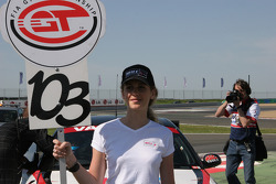 Grid girl for tne #103 car