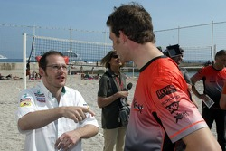 RTL beach volley match: Jacques Villeneuve and Alexander Wurz