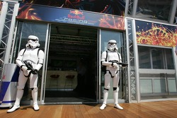 Stormtroopers at the Red Bull Racing Energy Station