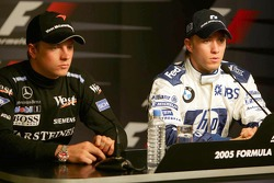 Saturday press conference: pole winner Nick Heidfeld with Kimi Raikkonen