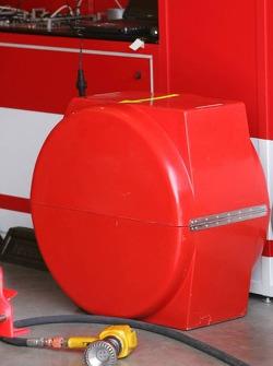 New tire warmer at Ferrari