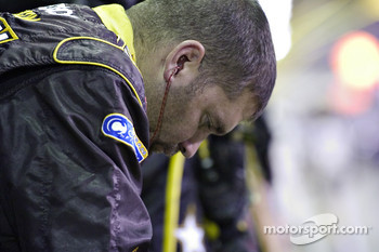 U.S. Army crew member meditates on Joe Nemechek's misfortune