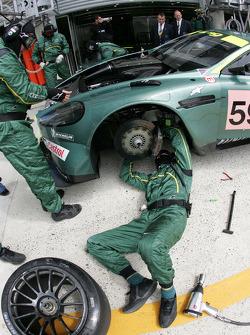 Aston Martin Racing crew members at work
