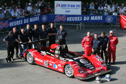 #20 Pierre Bruneau Pilbeam JPX: Marc Rostan, Philippe Haezebrouck, Pierre Bruneau and team members