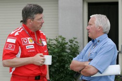 Ross Brawn and Charlie Whiting