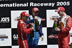 Cristiano da Matta, Sébastien Bourdais and Paul Tracy three Champ Car champions