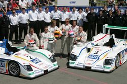 #2 and #3 Champion Racing Audi R8: Frank Biela, Allan McNish, Emanuele Pirro, JJ Lehto, Marco Werner, Tom Kristensen and team