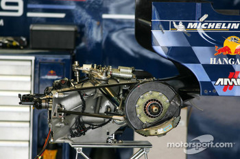 Gearbox and rear suspension of the Red Bull Racing RB1