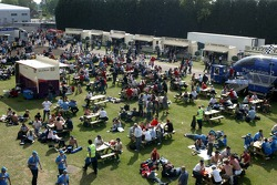 Fans in food and drink area