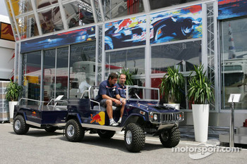 A mini Hummer at Red Bull Racing