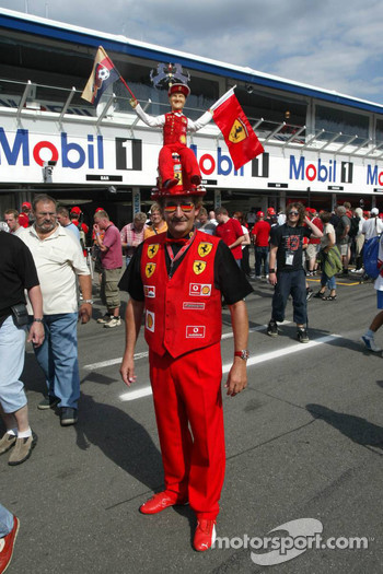 A fan of Michael Schumacher
