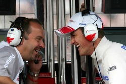Mike Gascoyne and Ralf Schumacher