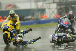 Marco Melandri crashes