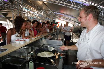 Cooking at Red Bull Energy Station