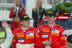 Podium: winners Marcus Gronholm and Timo Rautiainen