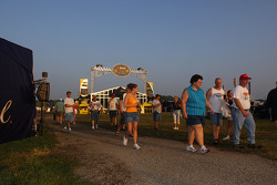 Fans arrive at the track