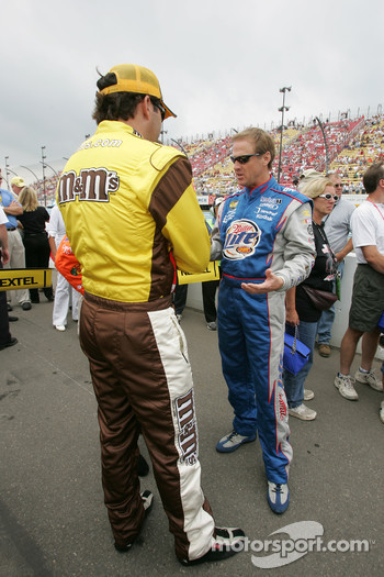 Elliott Sadler and Rusty Wallace