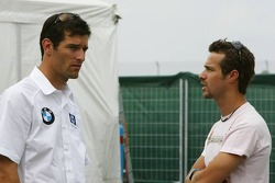 Mark Webber and Tiago Monteiro