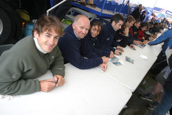 Bruce Jouanny and Martin Short at the autograph Session