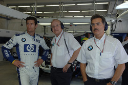 Mark Webber, Prof Burkard Goeschel and Dr Mario Theissen