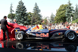 The Red Bull Racing car ready to go
