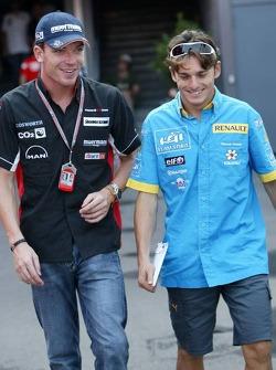 Robert Doornbos and Giancarlo Fisichella
