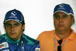 Felipe Massa with his father