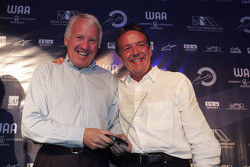 Charlie Whiting presents the award for Most Improved Team During the Season to David Price of DPR