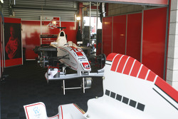 ART Grand Prix garage area