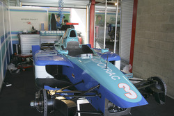 HiTech Piquet Racing garage area