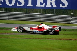 Ralf Schumacher in the grass