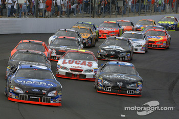 Mark Martin leads the pack